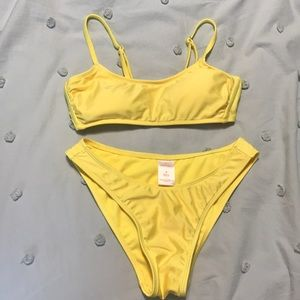Bright Yellow Bikini Set